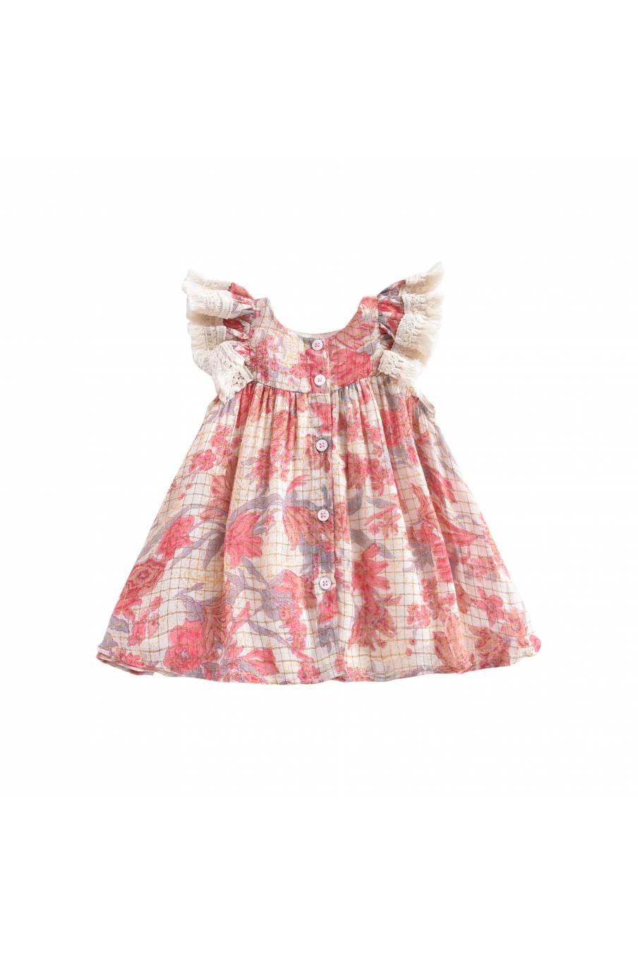 Dress Janice Pink Flowers