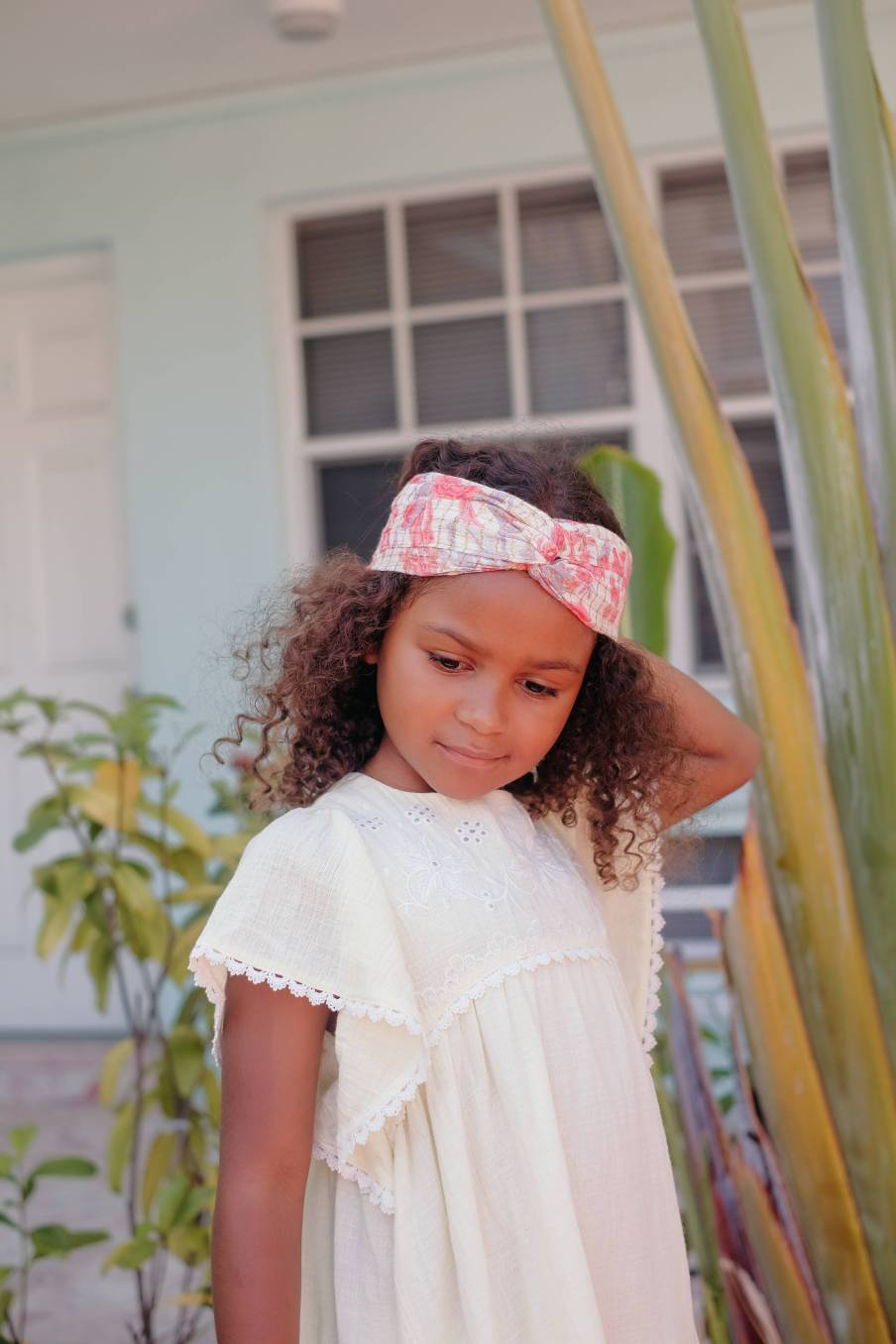 Headband Yuriria Pink Flowers