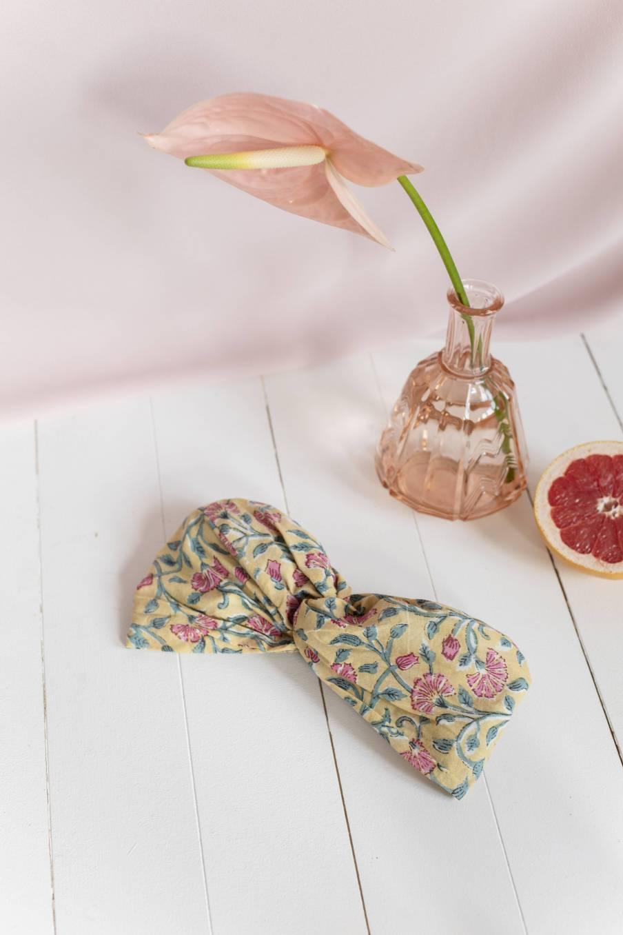 Headband Yuriria Lemon Flowers