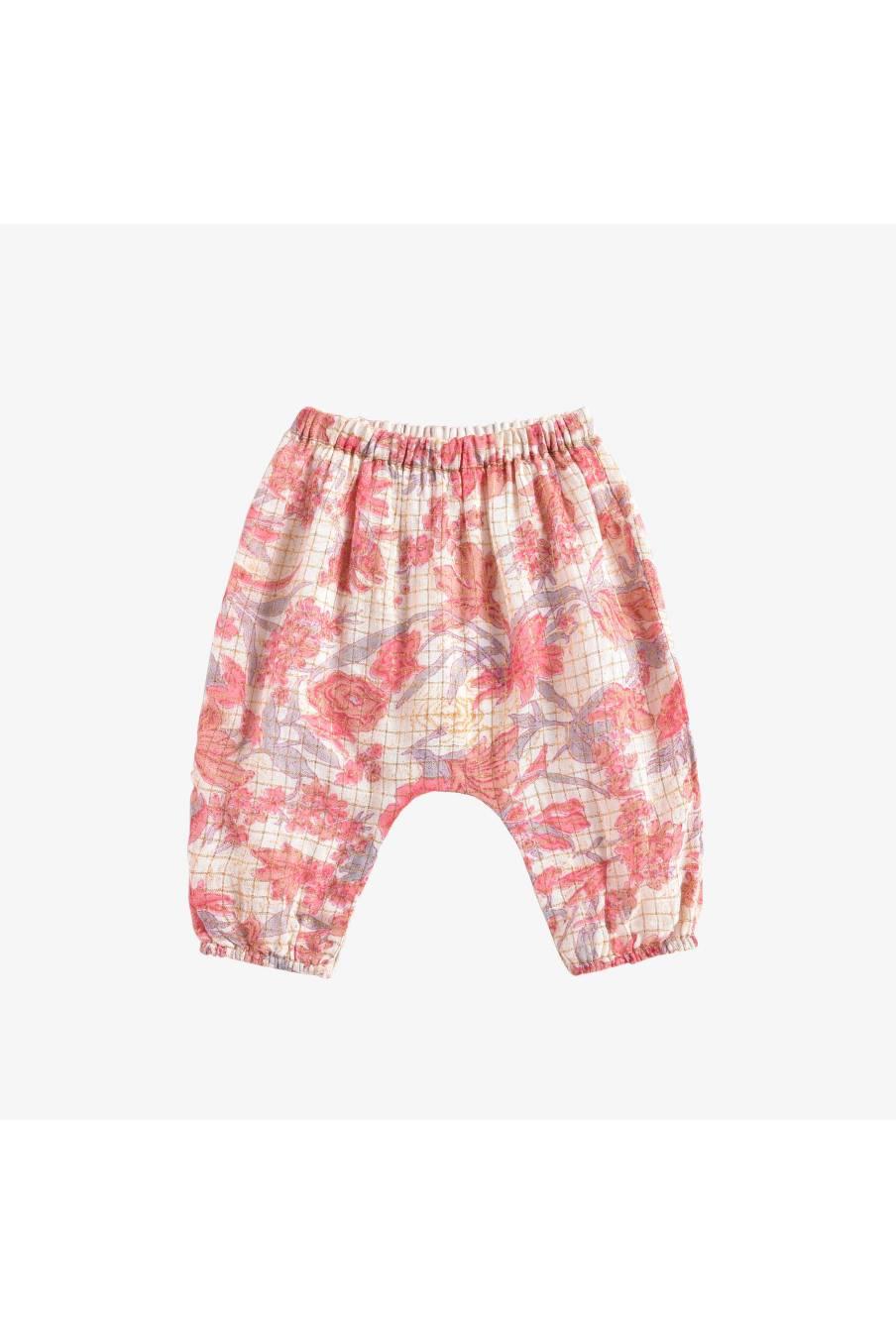 Pants Flor Pink Flowers