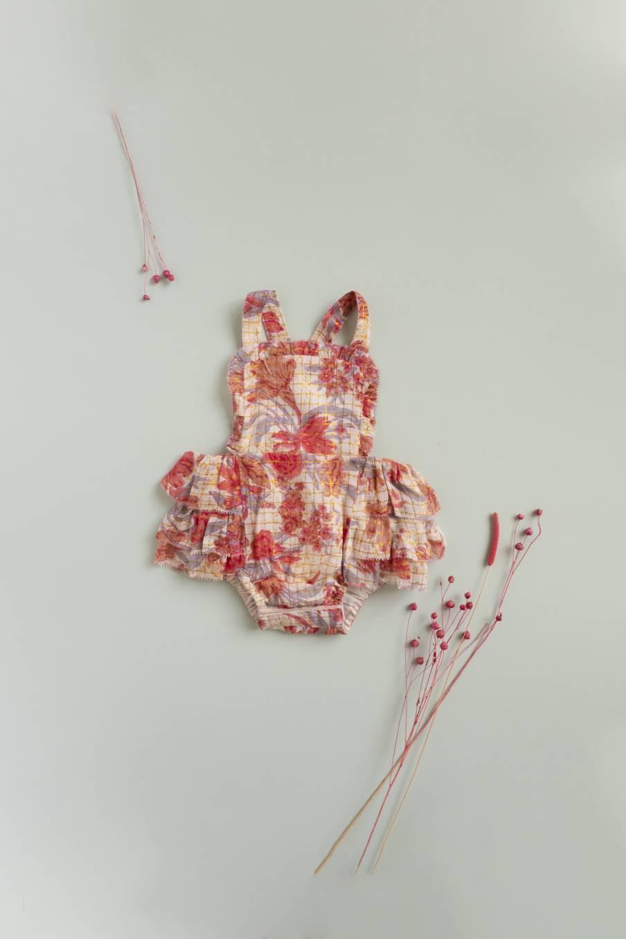 Rompers Izamal Pink Flowers