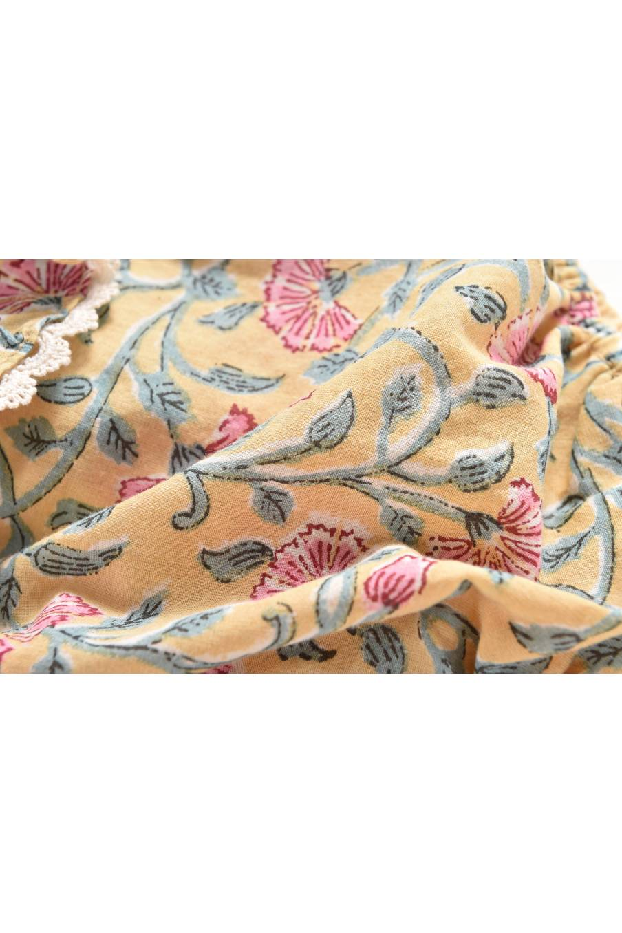 Rompers Kumal Lemon Flowers