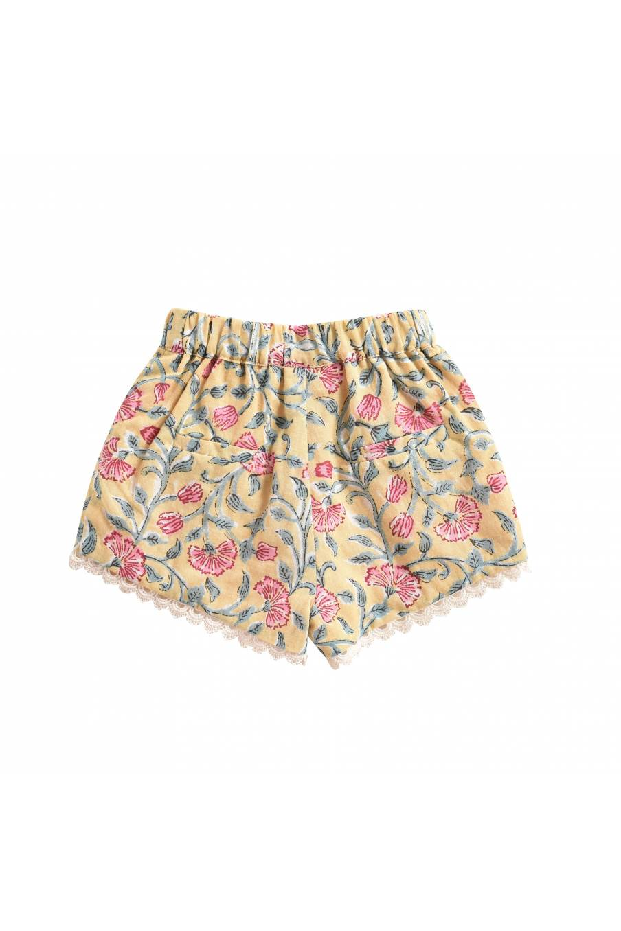 Shorts Vallaloid Lemon Flowers