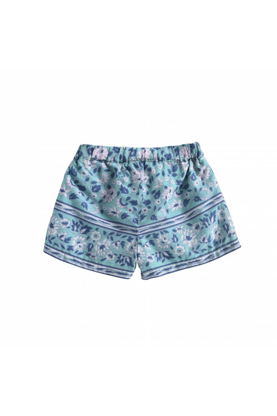 Shorts Vallaloid Emerald Flowers