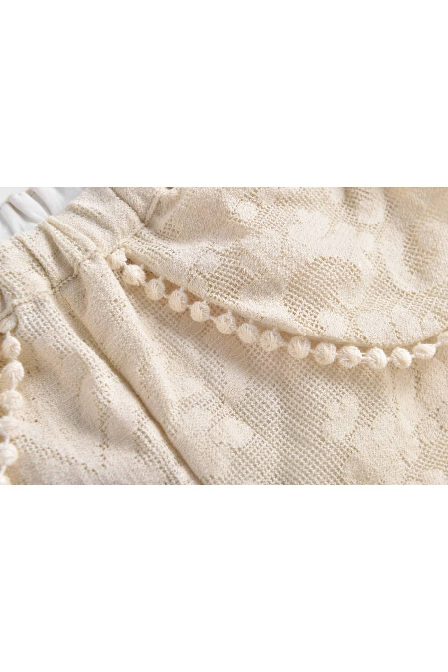 Shorts Velinda Cream Baroque Lace