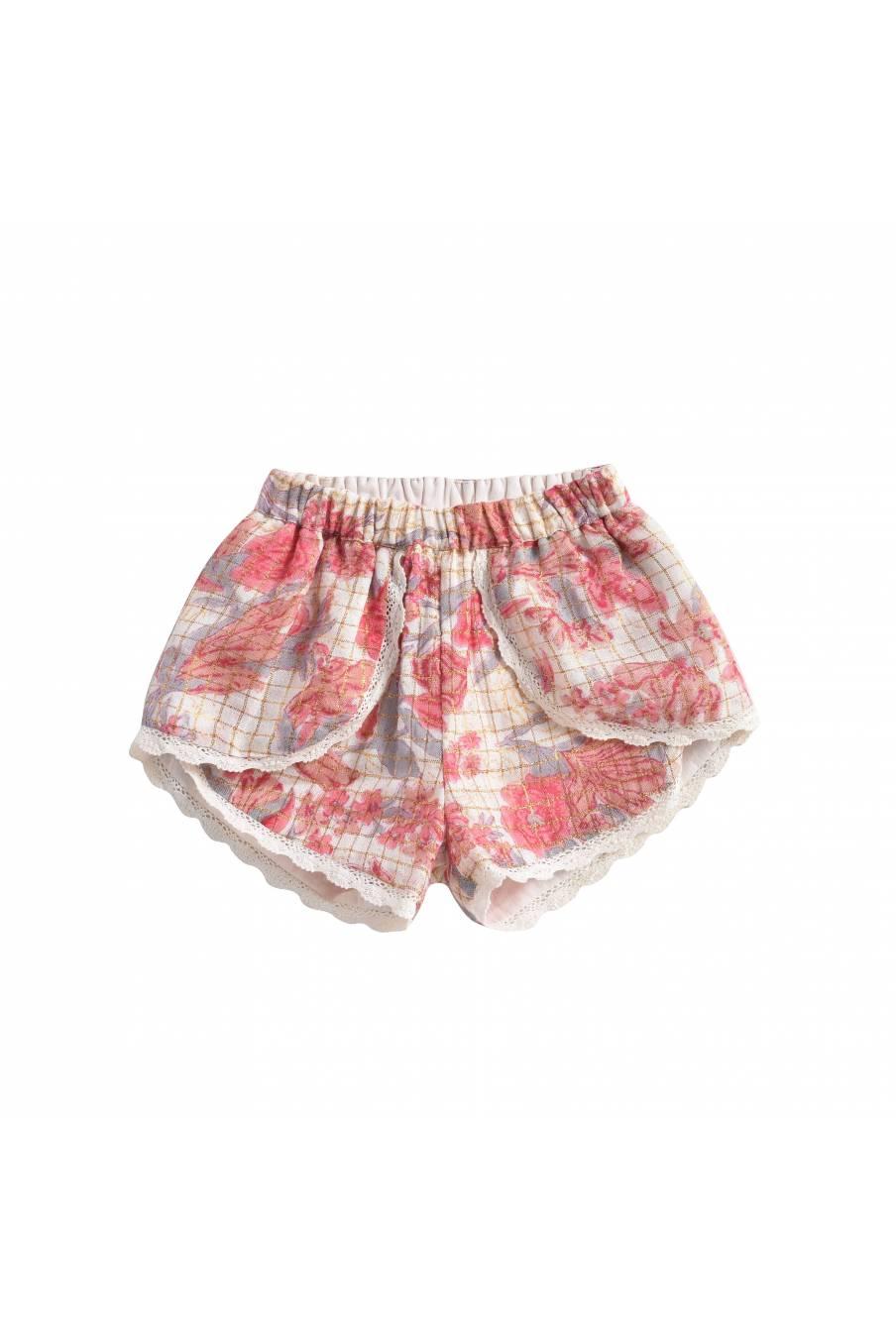 Shorts Velinda Pink Flowers