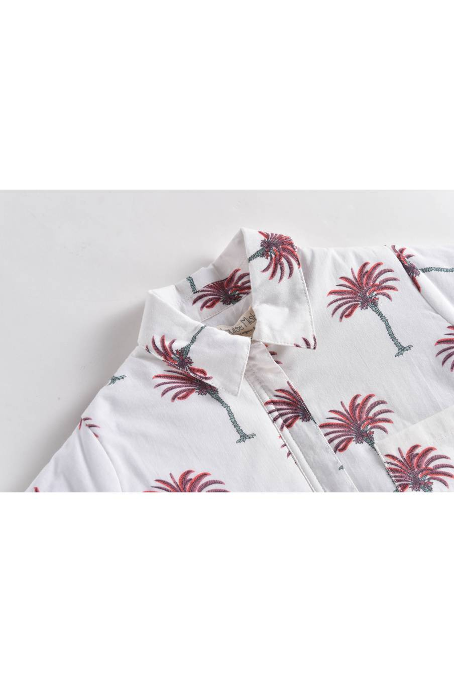 Jacket Ariou White Tropical