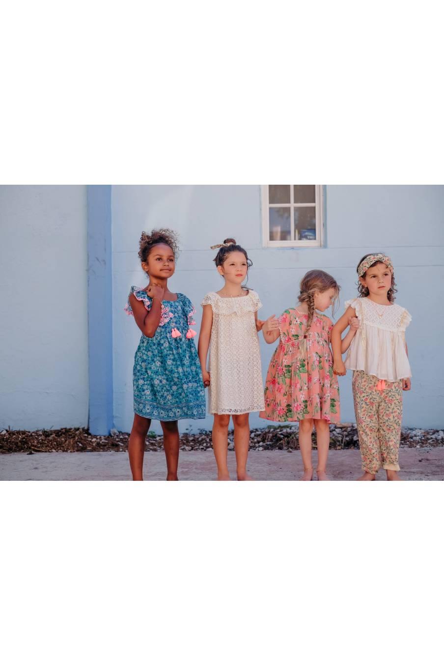 Blouse Serena White & Gold Stripes