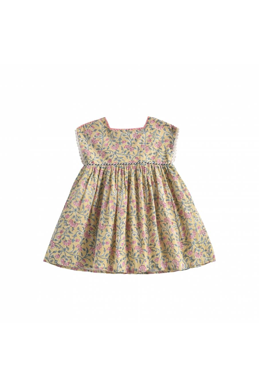 Dress Tapalpa Lemon Flowers