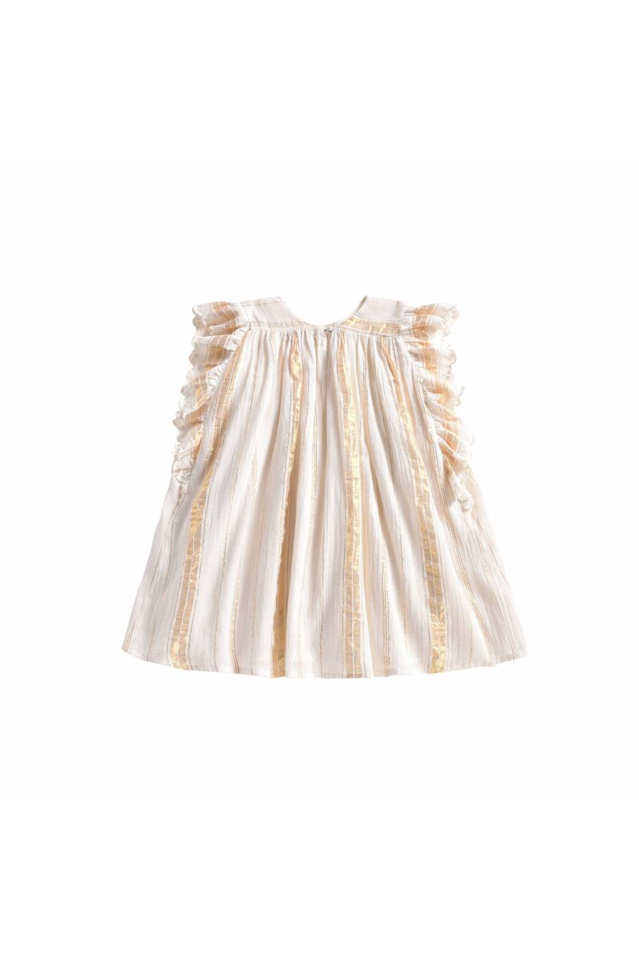 Dress Lyka White & Gold Stripes