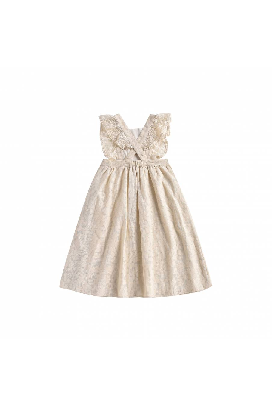 Dress Cosala Cream Baroque Lace