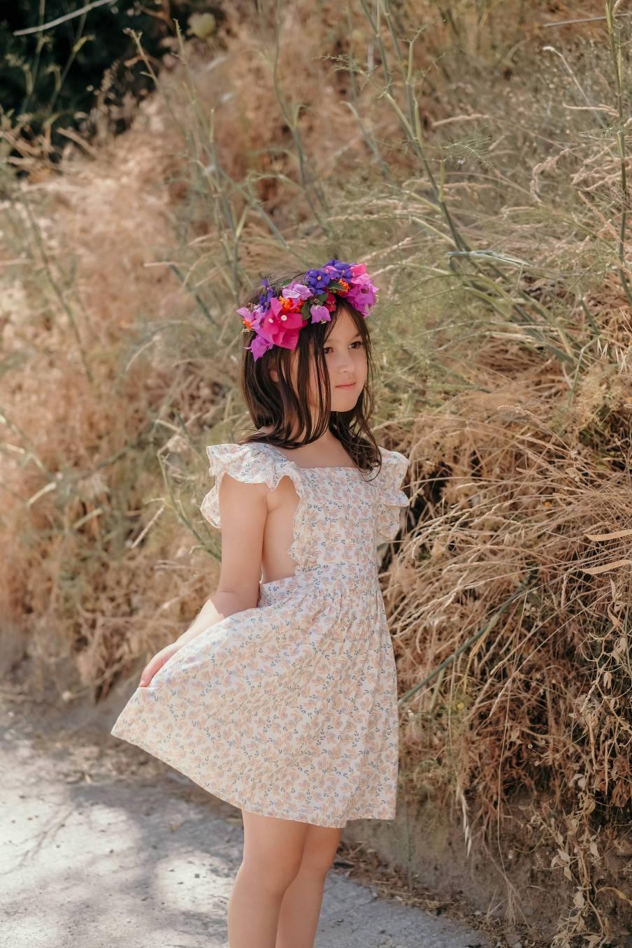 Dress Ambika Cream Petals