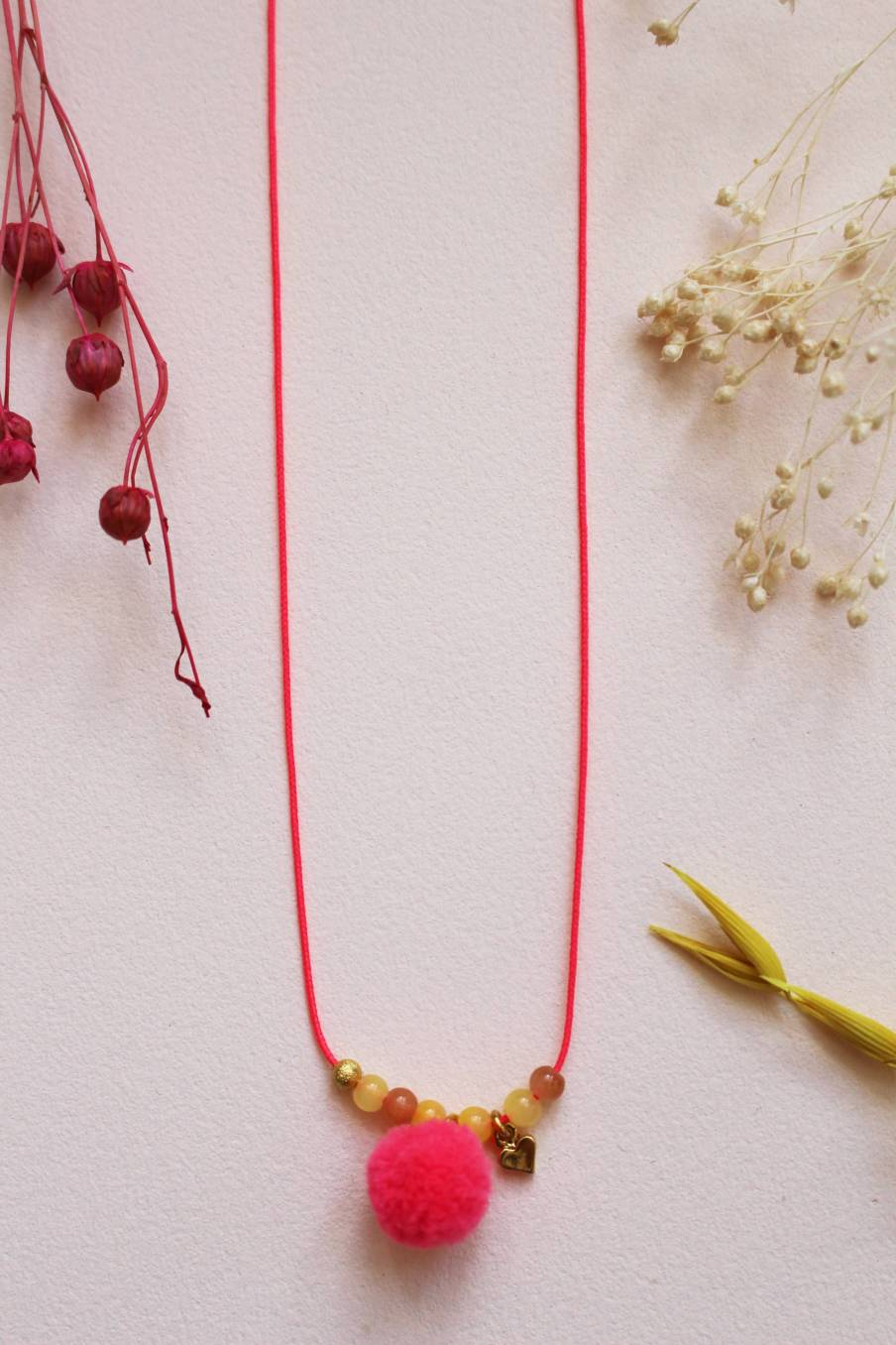 Necklace Sera Fluo Pink