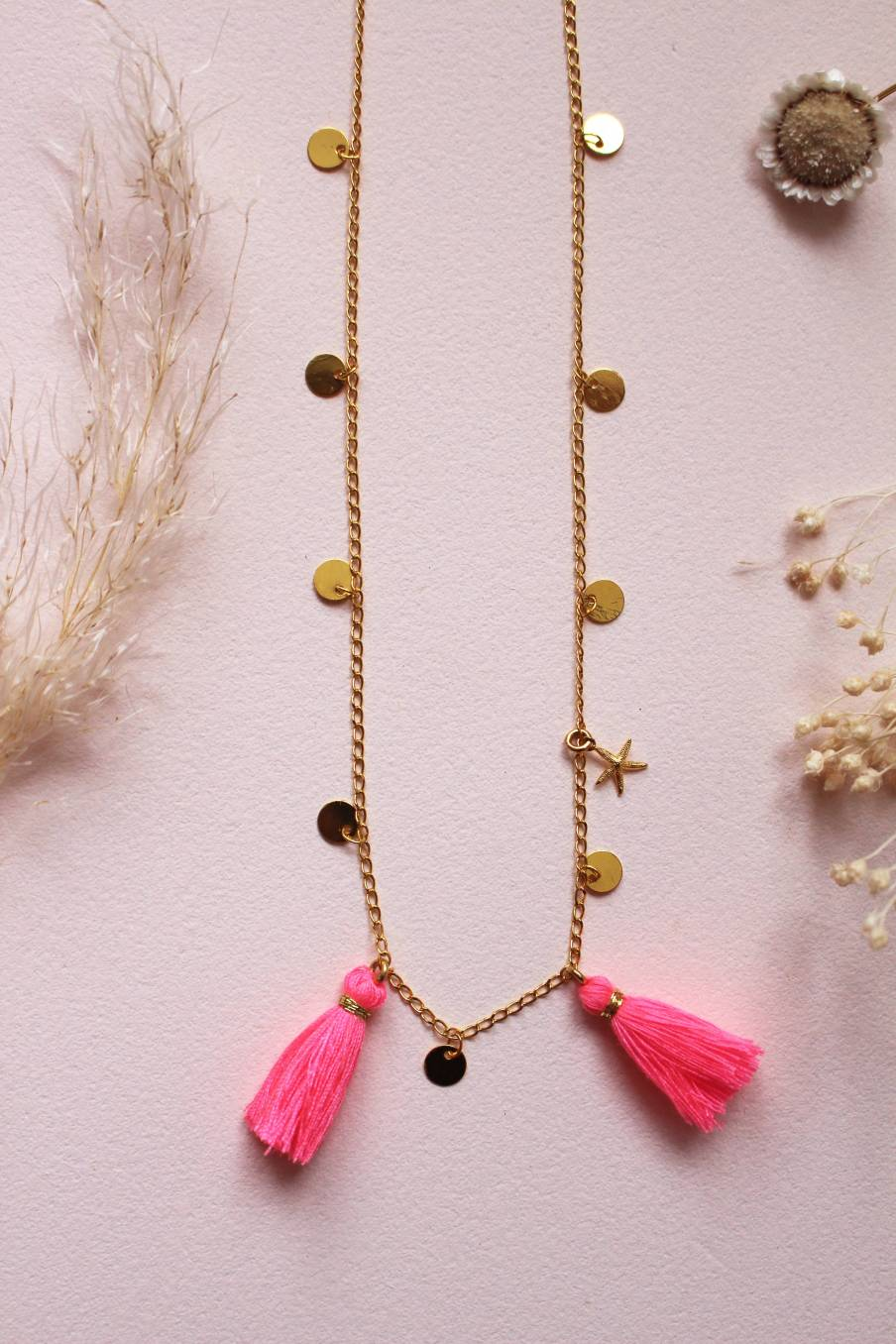 Necklace Soledad Fluo Pink