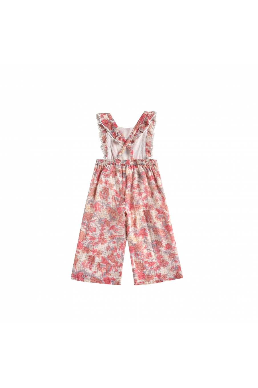 Overalls Leandra Pink Flowers
