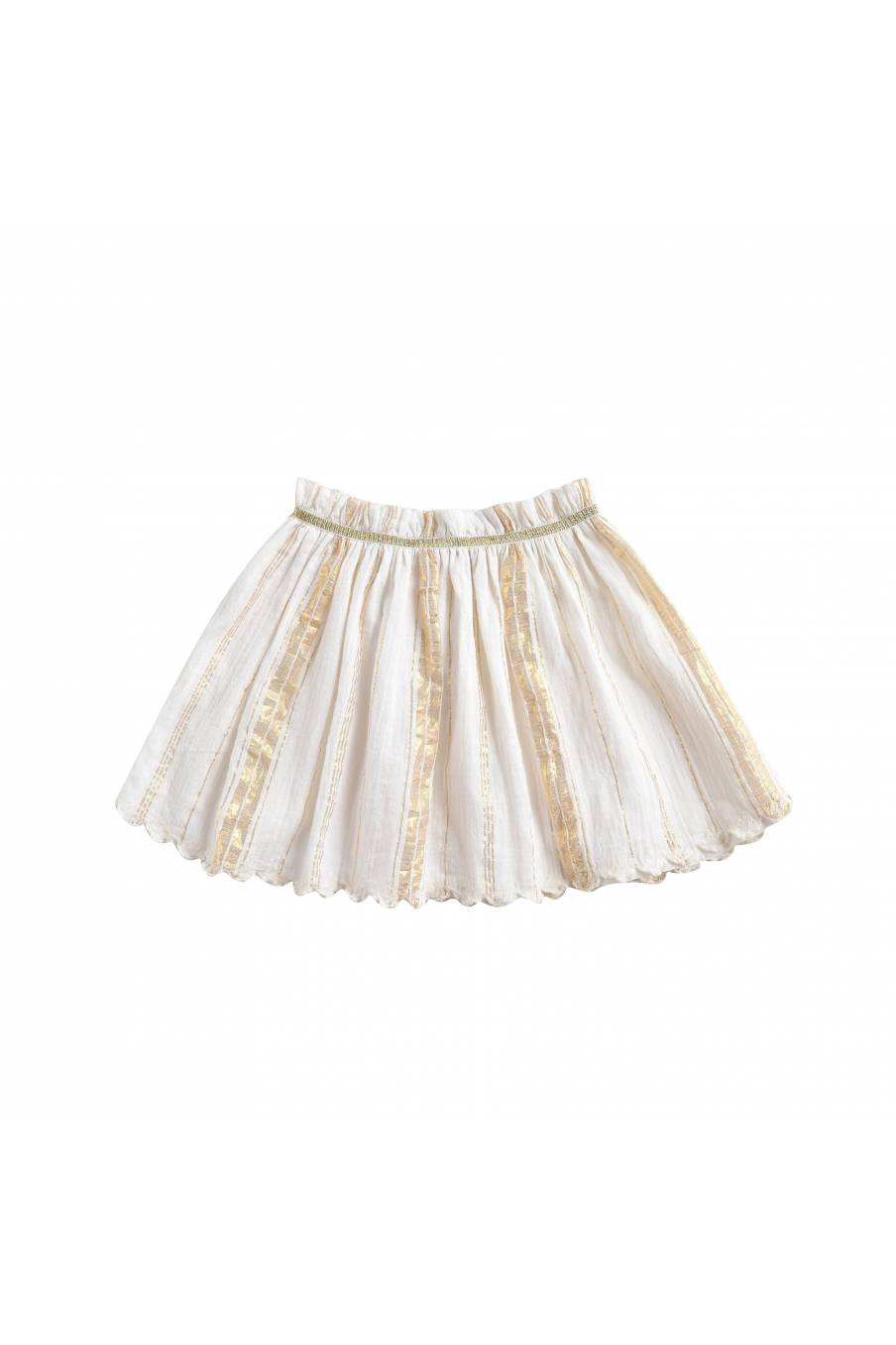 Skirt Salina White & Gold Stripes