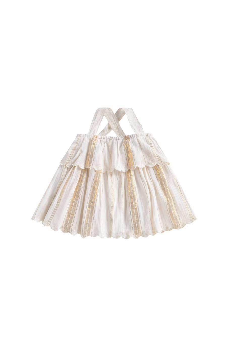 Top Riha White & Gold Stripes