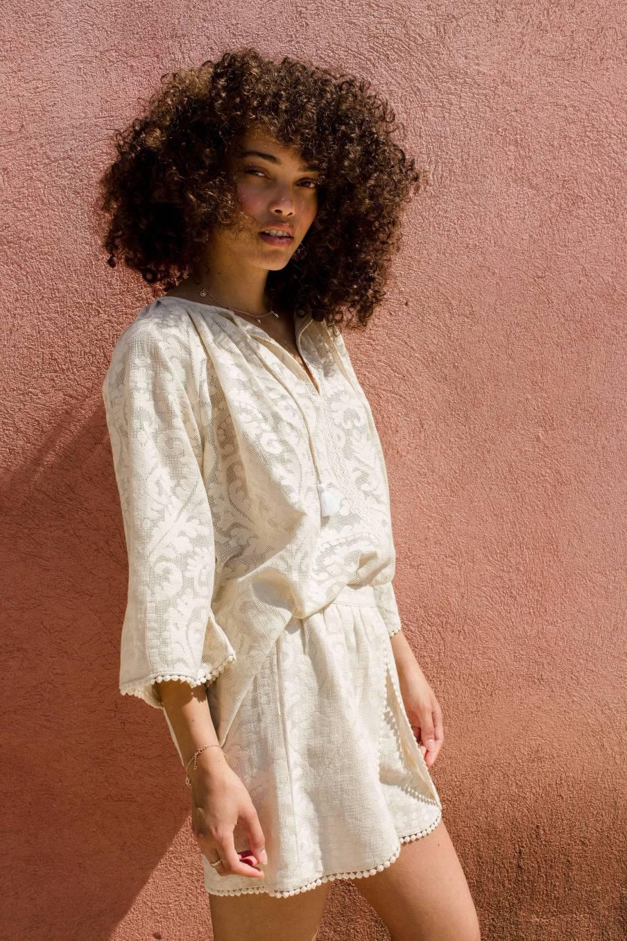 Blouse Maribel Cream Baroque Lace