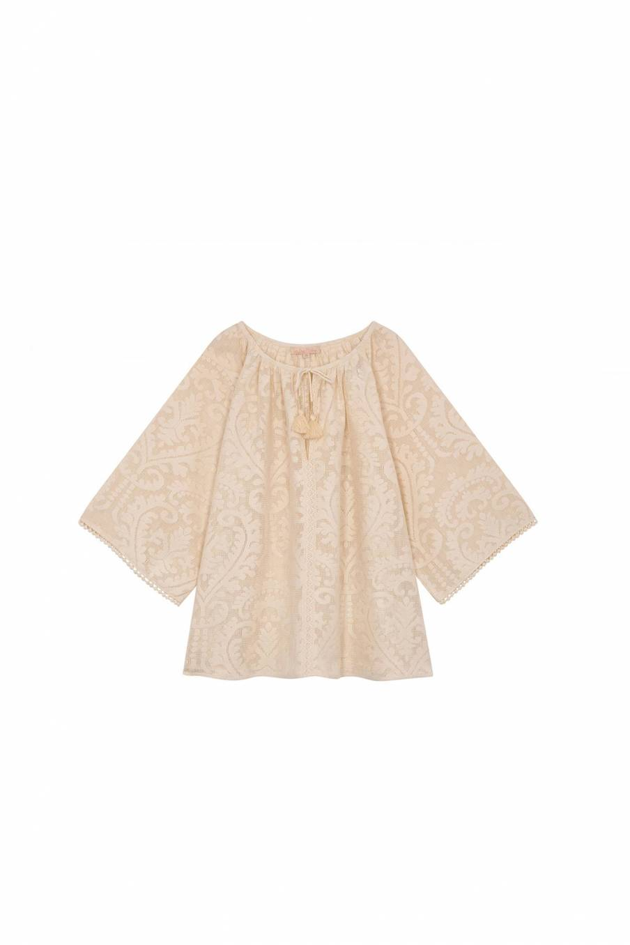 Blouse Maribel Cream Baroque Lace