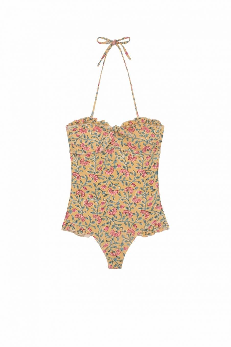 Bathing Suit Bayo Lemon Flowers