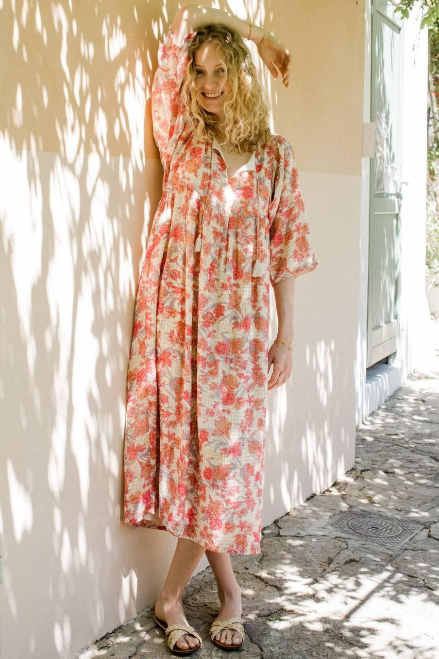 Dress Gera Pink Flowers