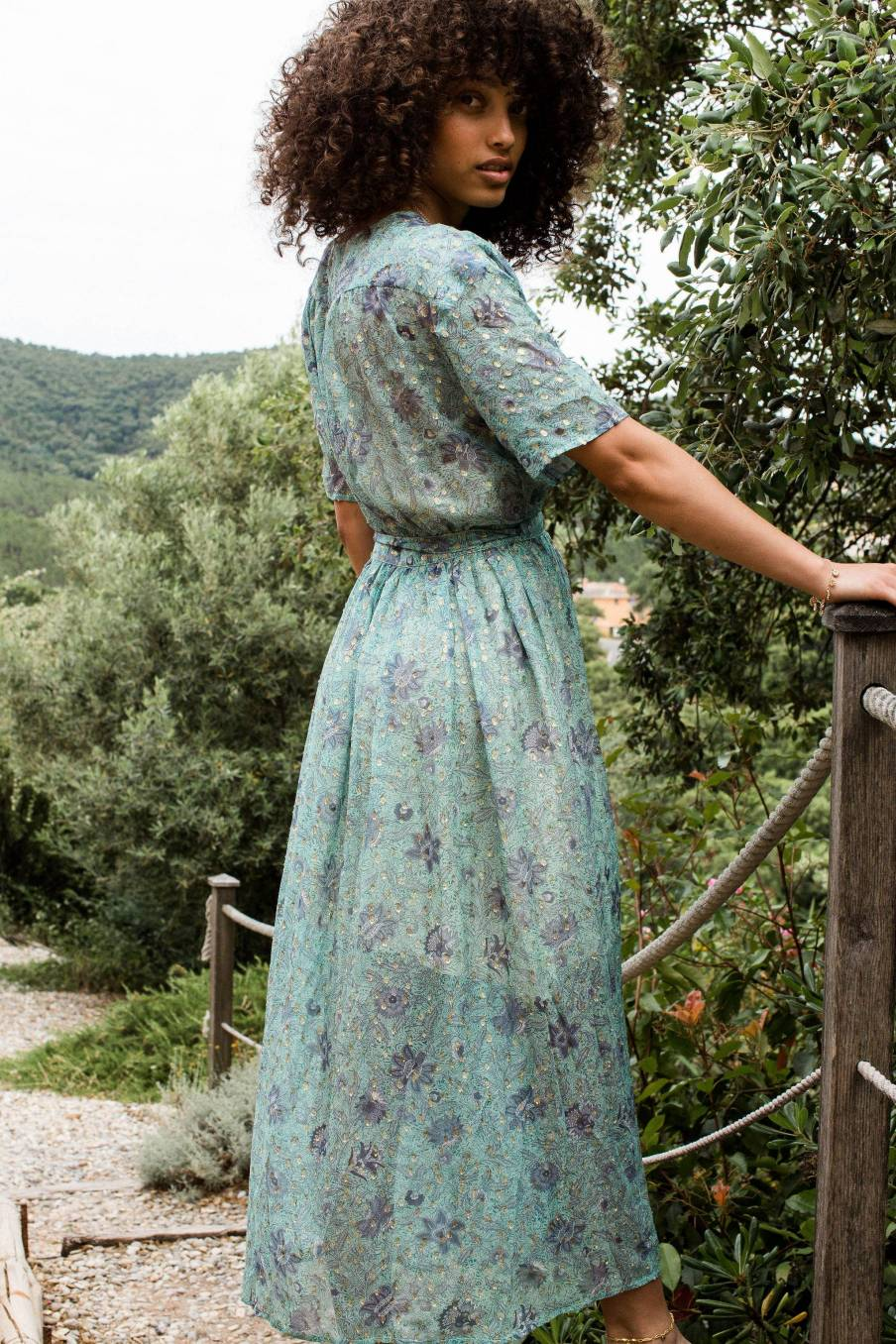 Dress Steria Almond Flowers