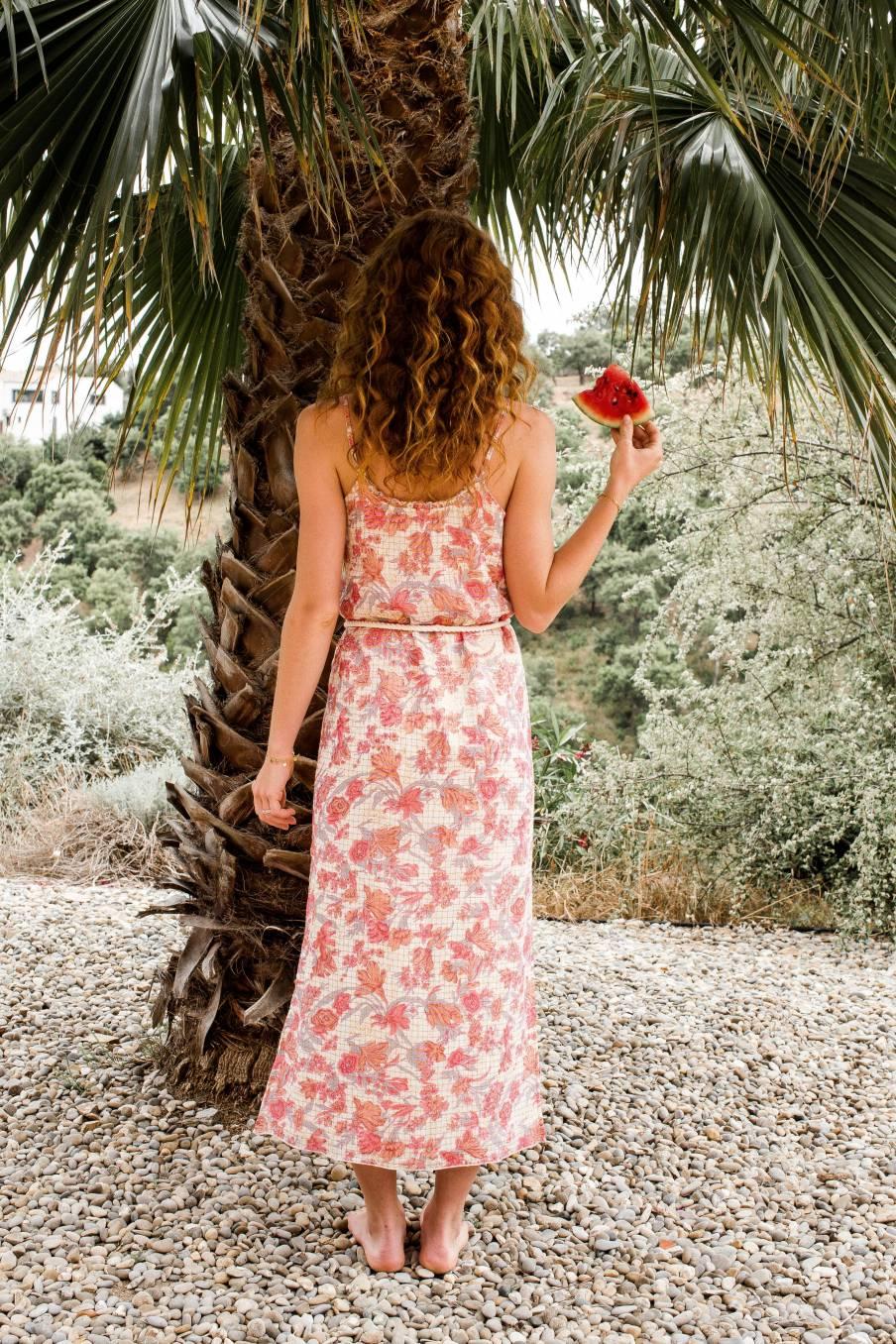 Dress Cama Pink Flowers