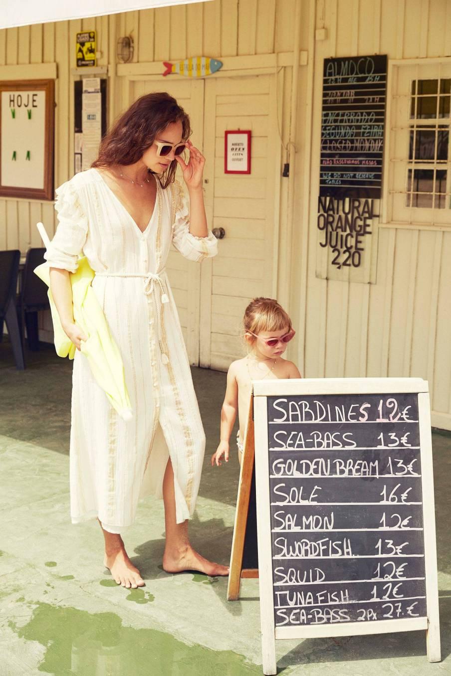 Dress Milla White & Gold Stripes