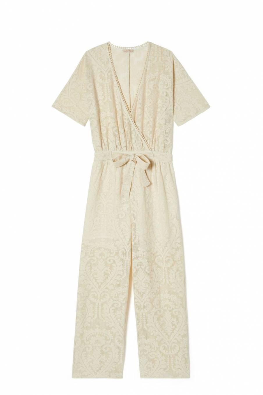 Jumpsuit Tina Cream Baroque Lace