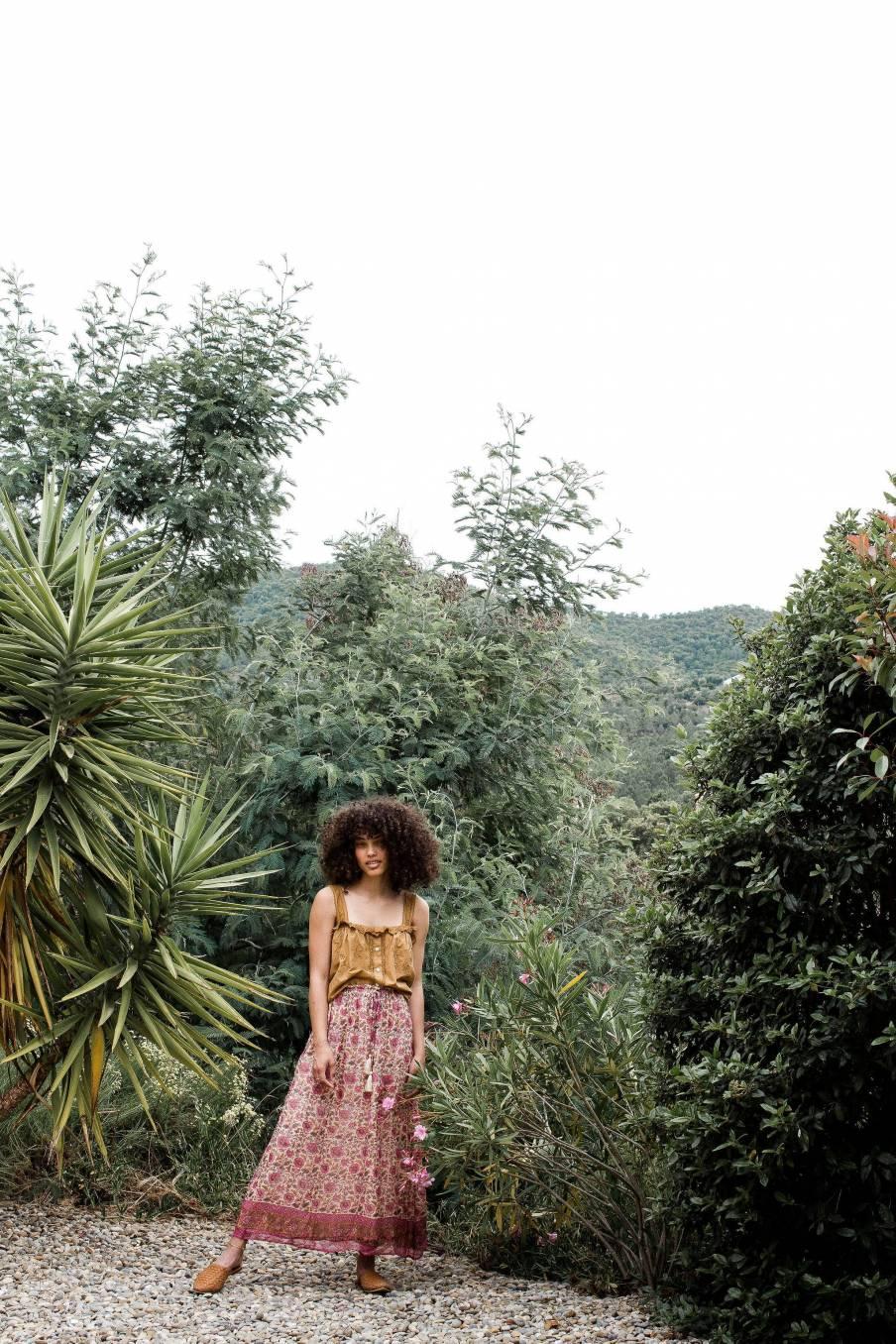 Skirt Yolanda Vintage Flowers
