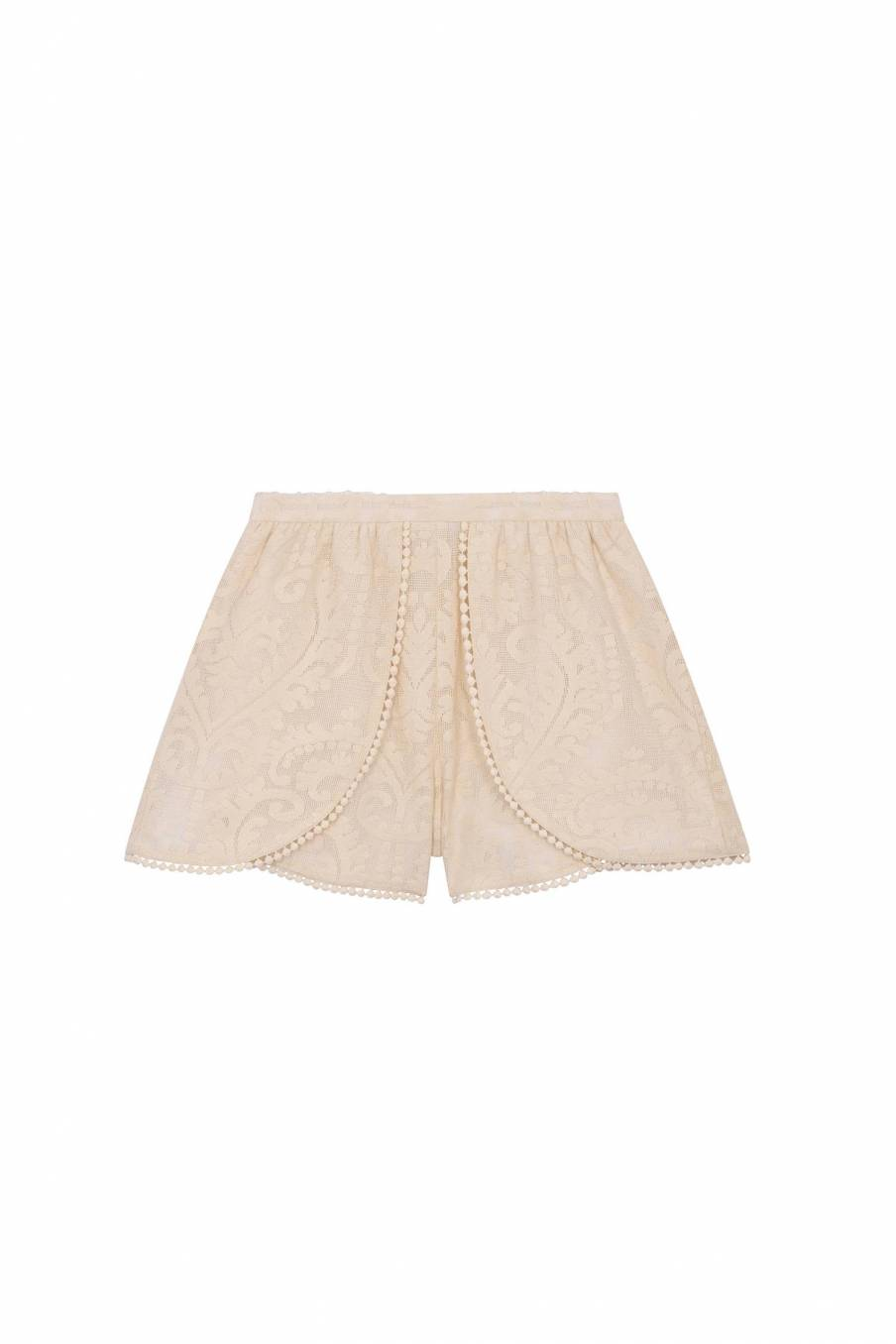 Shorts Toni Cream Baroque Lace