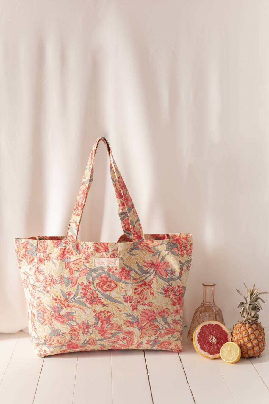Tote Bag Beverly Pink Flowers