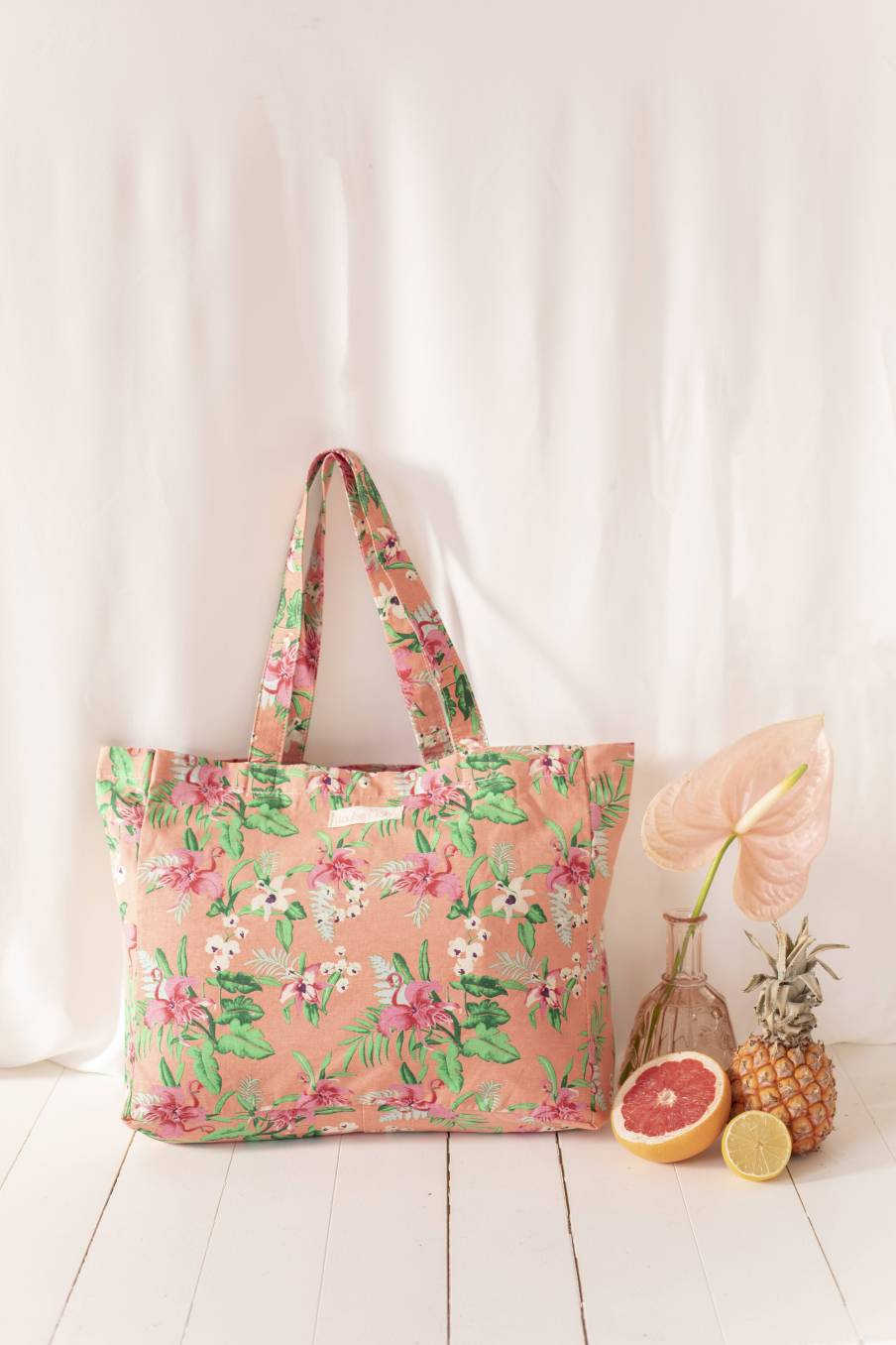 Tote Bag Beverly Sienna Flamingo