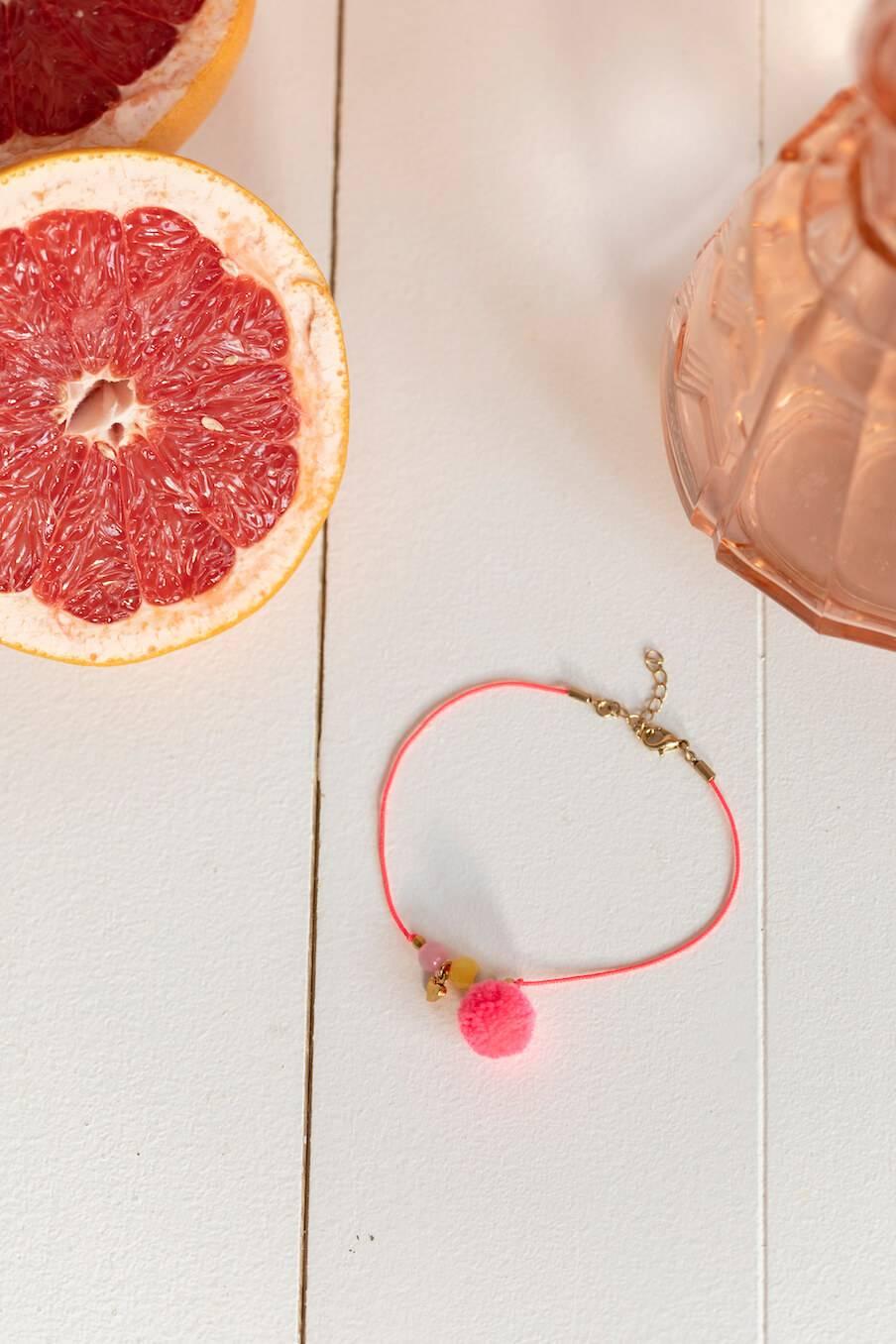Bracelet de cheville Sirena Rose Fluo
