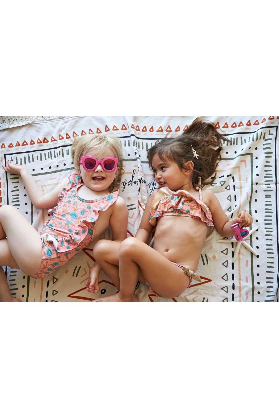 bathing suit bohème chic vintage  bebe fille fleurie mosillos