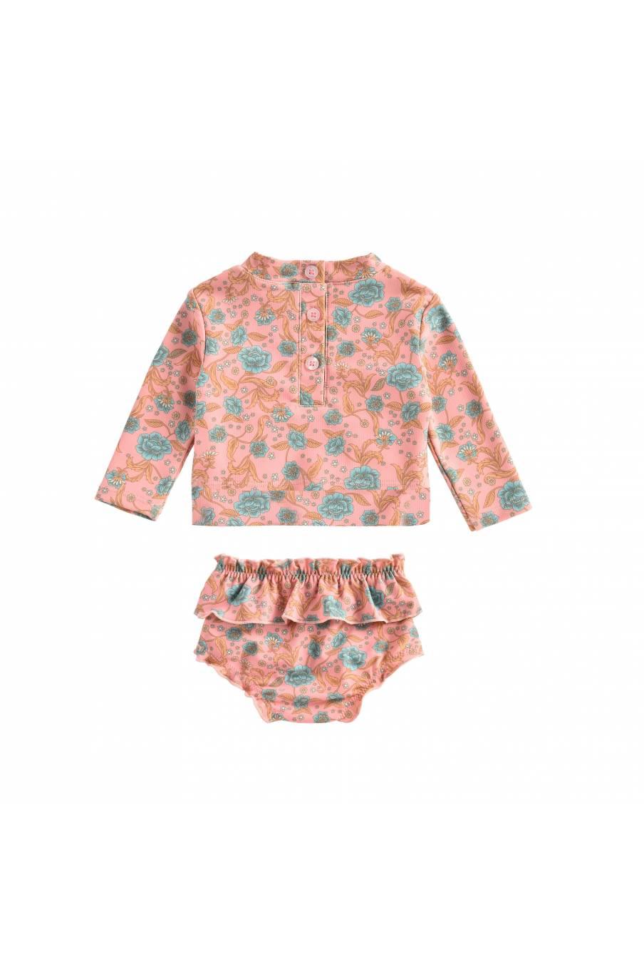 bathing suit bohème chic vintage  bebe fille fleurie toluca