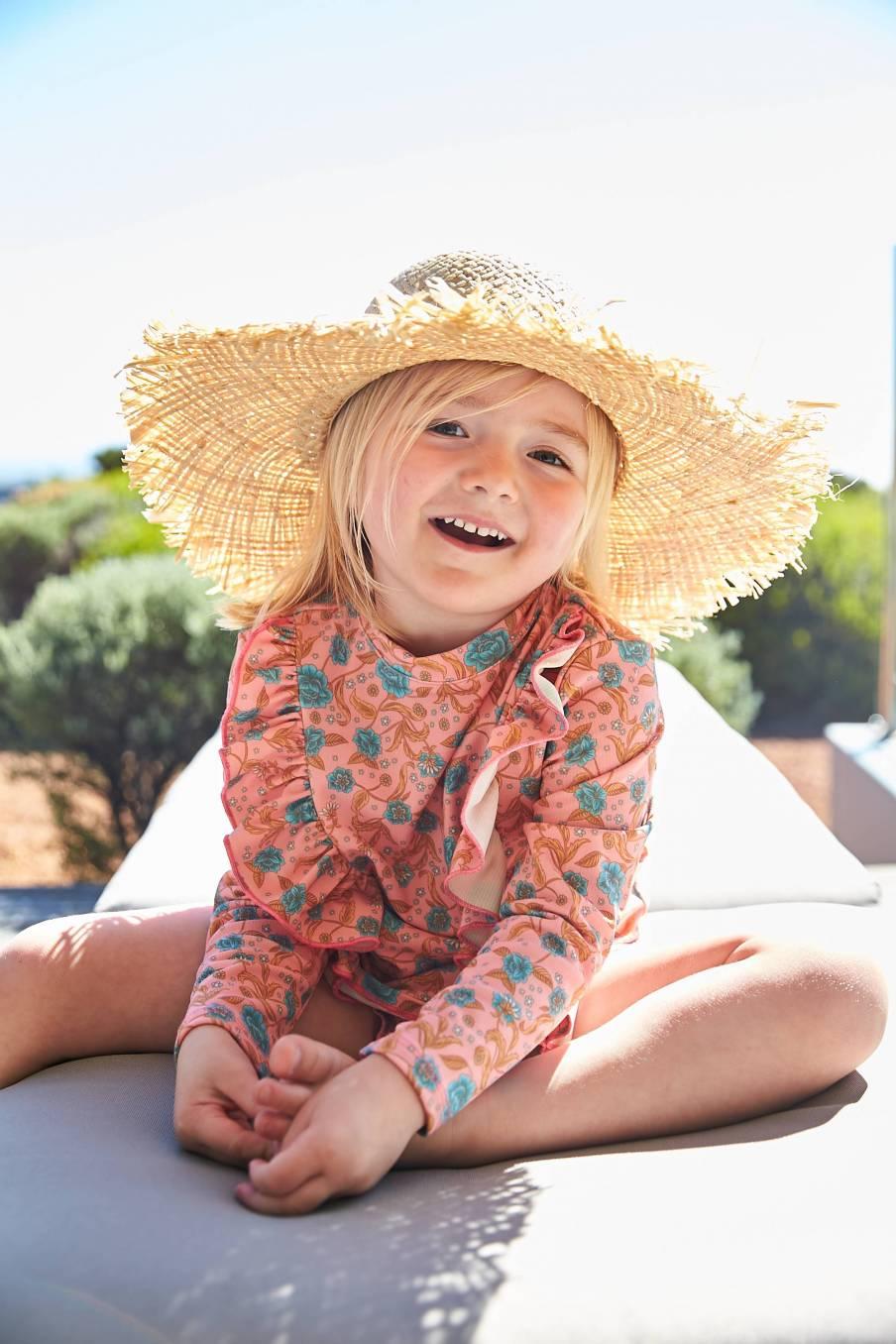 bathing suit bohème chic vintage  fille fleurie toluca