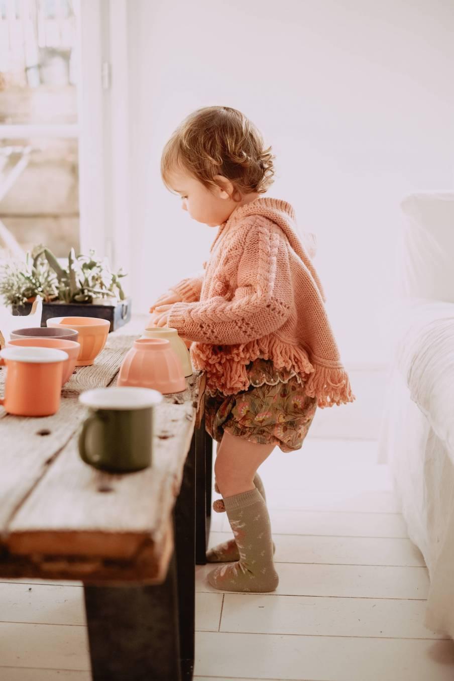 boheme chic vintage cape bébé fille lili sienna