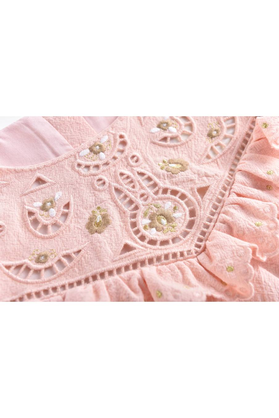 boheme chic vintage blouse bébé fille jacota blush