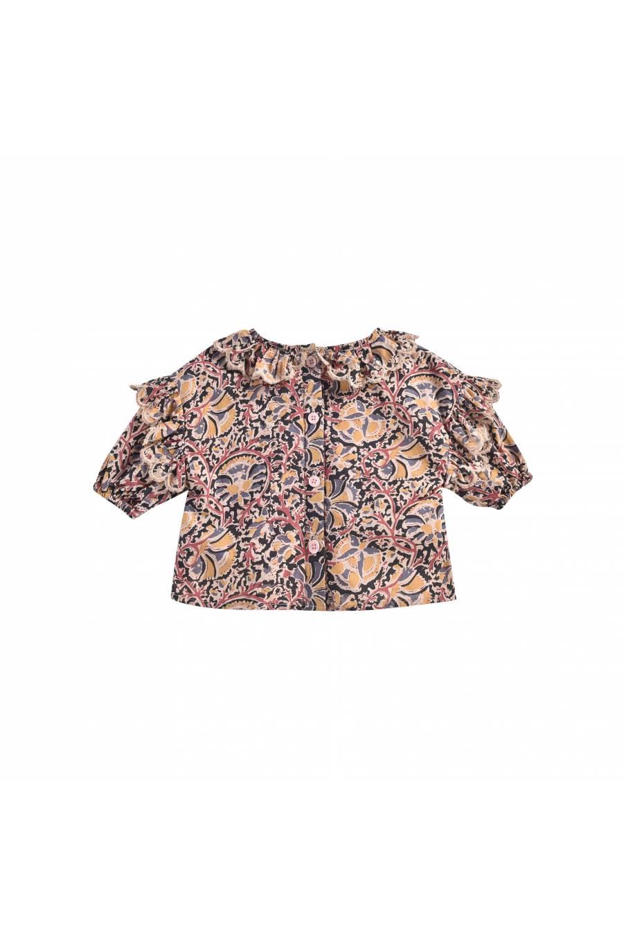 boheme chic vintage blouse bébé fille gaita nordish flowers