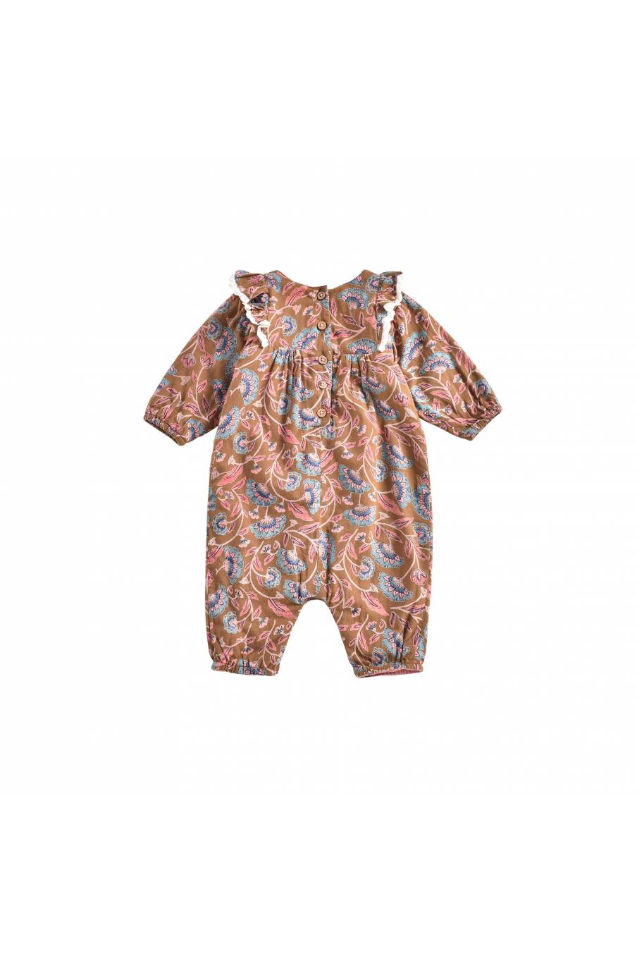 boheme chic vintage combinaison bébé fille adelie bronze folk flowers