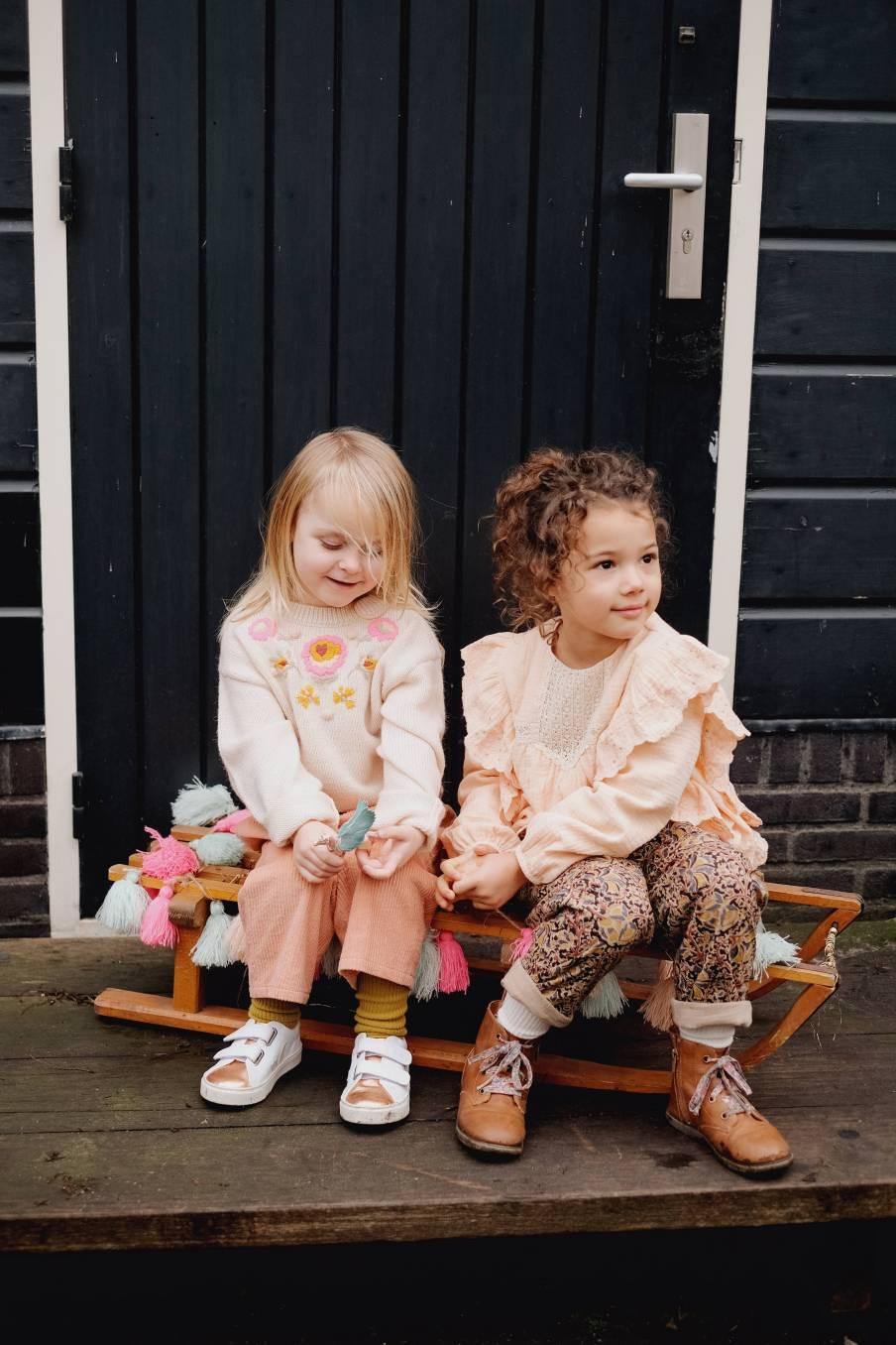 boheme chic vintage pantalon bébé fille flor sienna velvet