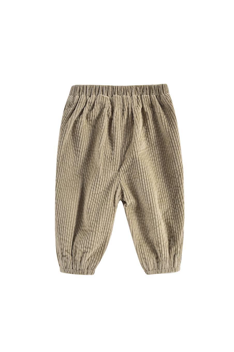 boheme chic vintage pantalon bébé fille flor khaki velvet