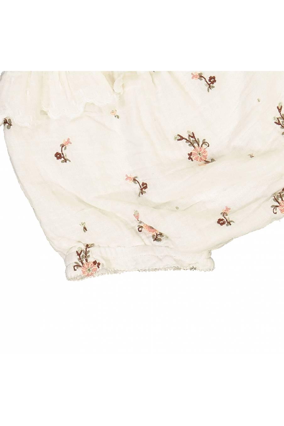 boheme chic vintage bloomer bébé fille janelle off-white flowers