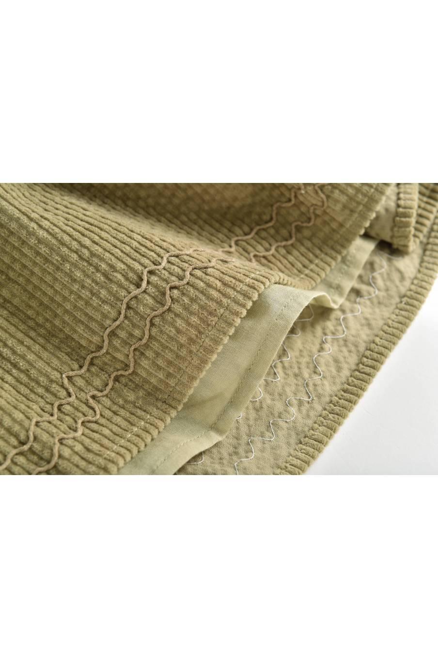 boheme chic vintage jupe bébé fille eleonor khaki velvet