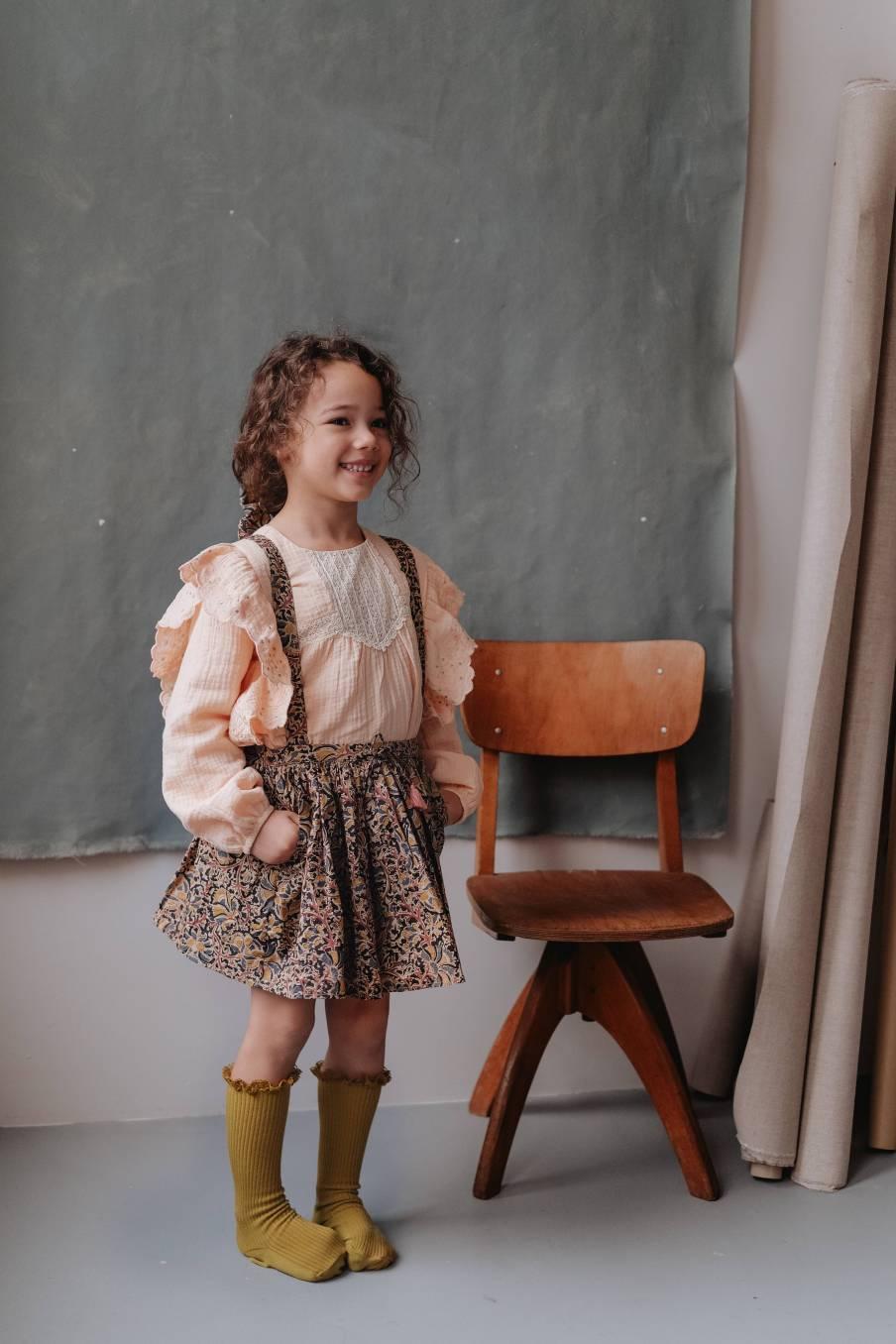 boheme chic vintage jupe bébé fille onora nordish flowers