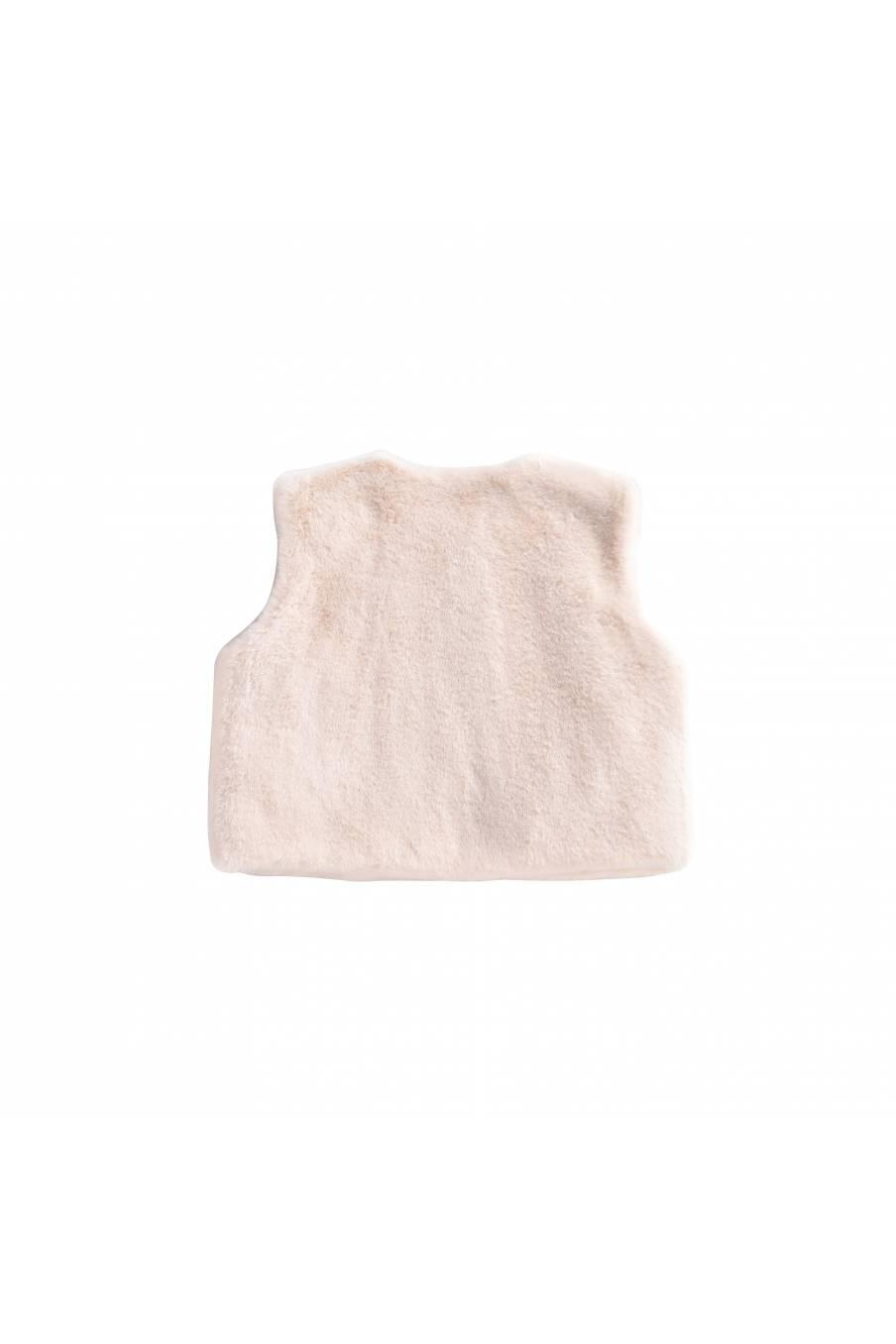 boheme chic vintage gilet bébé fille bianca crème
