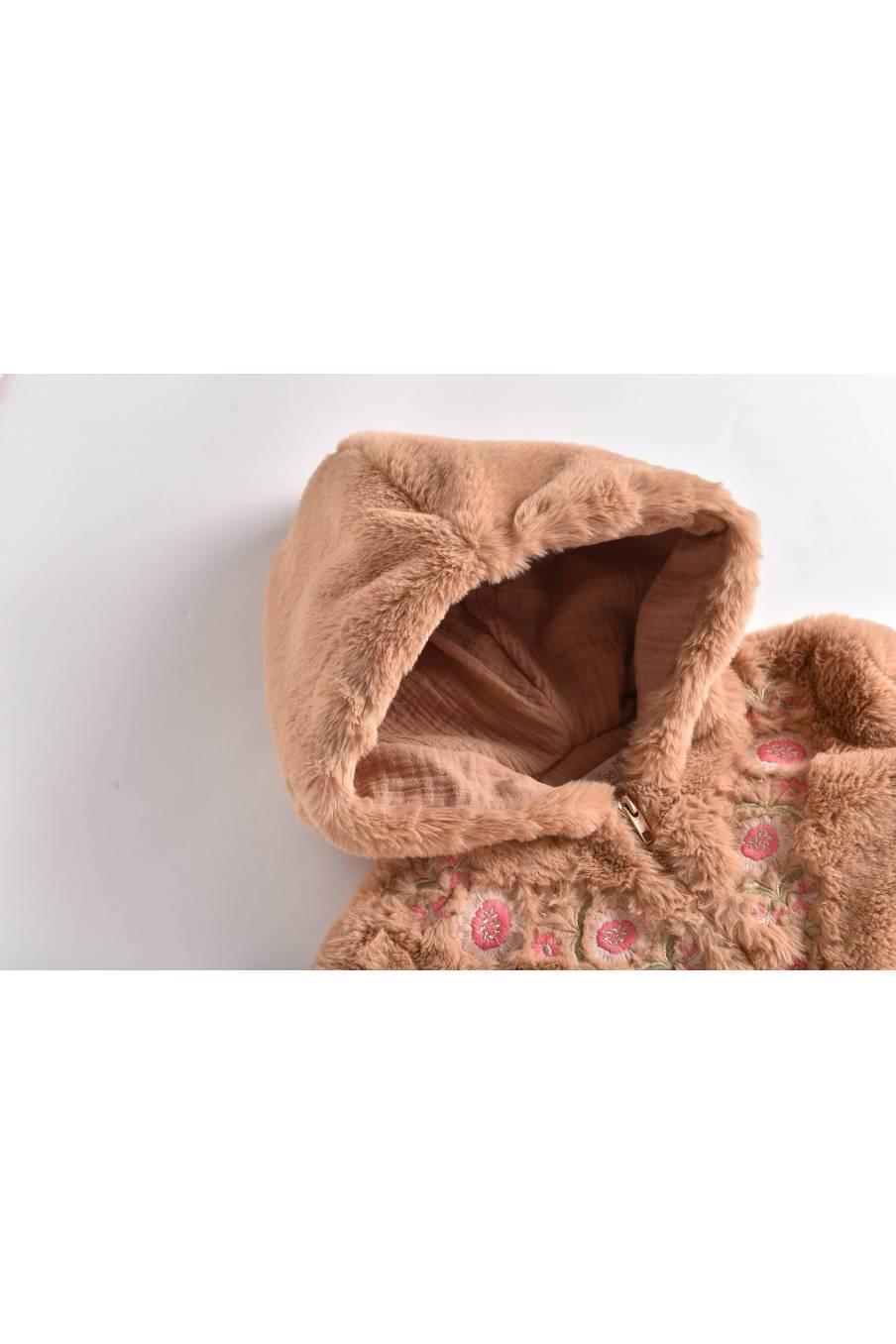 boheme chic vintage veste bébé fille jovica noisette