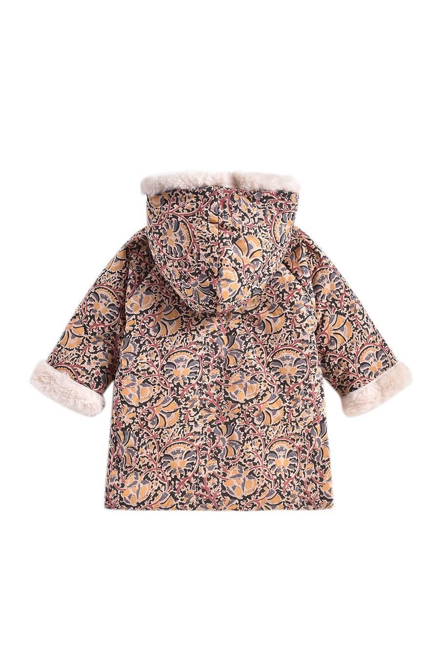 boheme chic vintage manteau bébé fille bacani nordish flowers