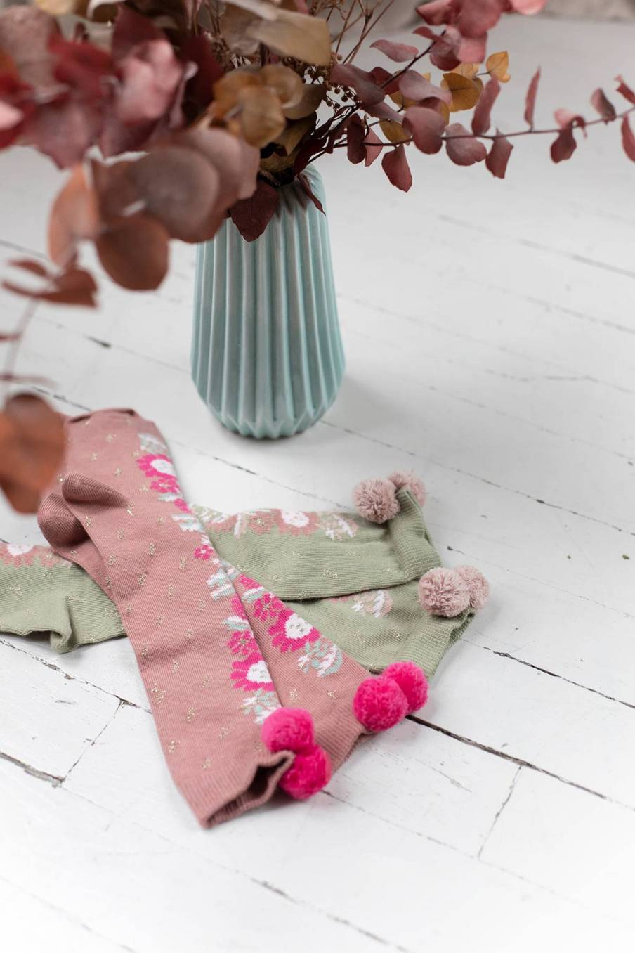 boheme chic vintage chaussettes bébé fille chavka kaki